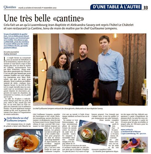 Article Le Quotidien 2017