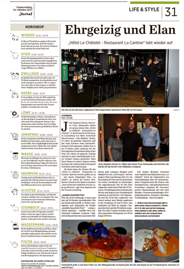 Article Letzeburger Journal Novembre 2017
