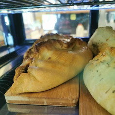 Slow cooked beef and minted lamb pasties