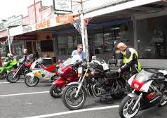 Motor bikers stop over