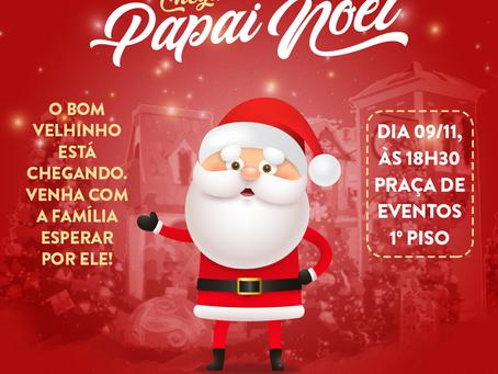 Chegada do Papai Noel acontece no dia 9 de novembro com carreata pelas ruas de Foz do Iguaçu