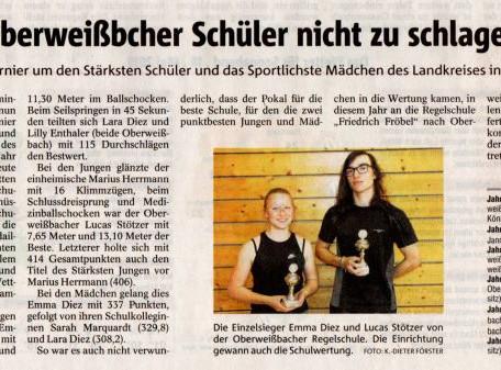Kreisfinale Stärkster Schüler in Neusitz