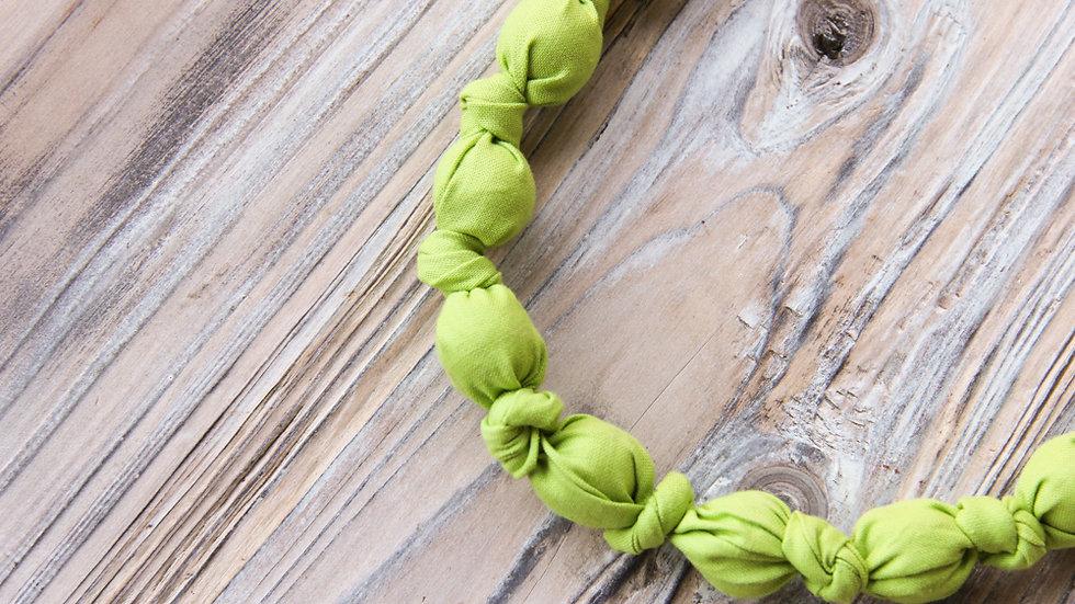 Tyghalsband - amningshalsband - äppelgrön
