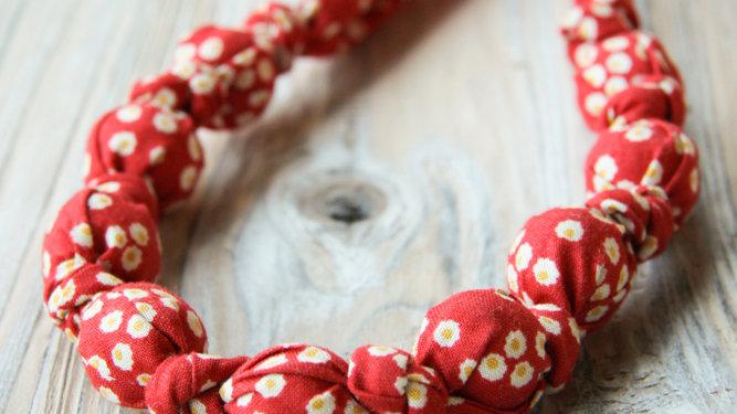 Tyghalsband - amningshalsband - rött