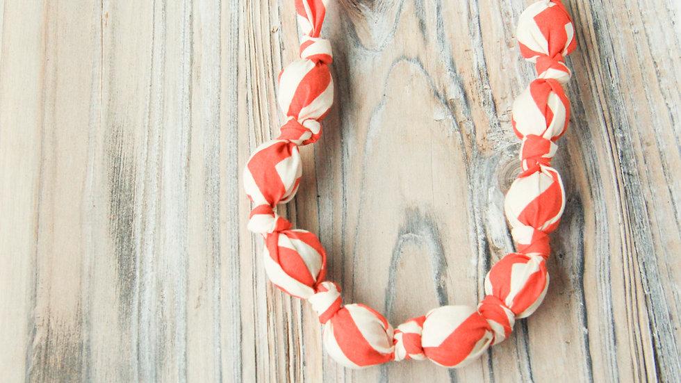 Tyghalsband - amningshalsband - röd/orange