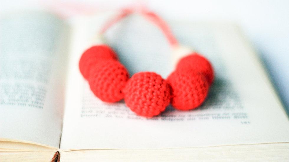 Amningshalsband - rött