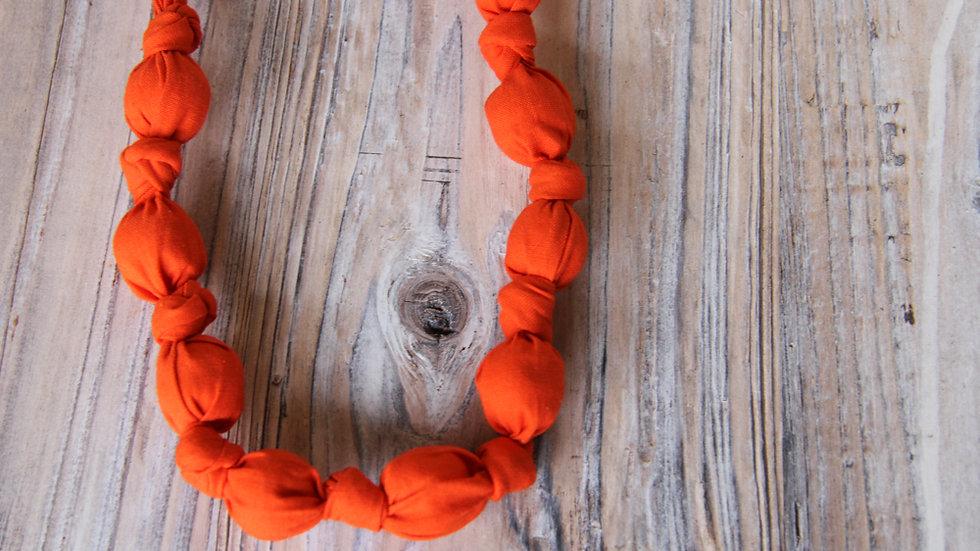 Tyghalsband - amningshalsband - röd-orange