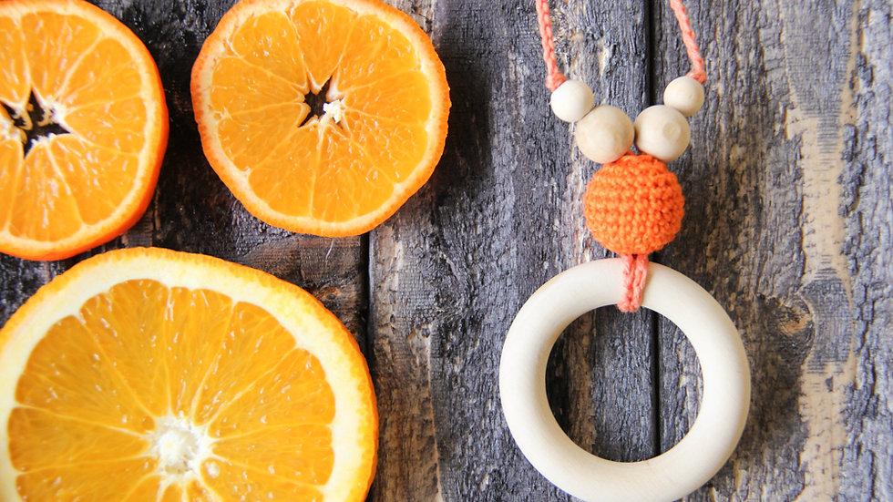 Amningshalsband med bitring - orange