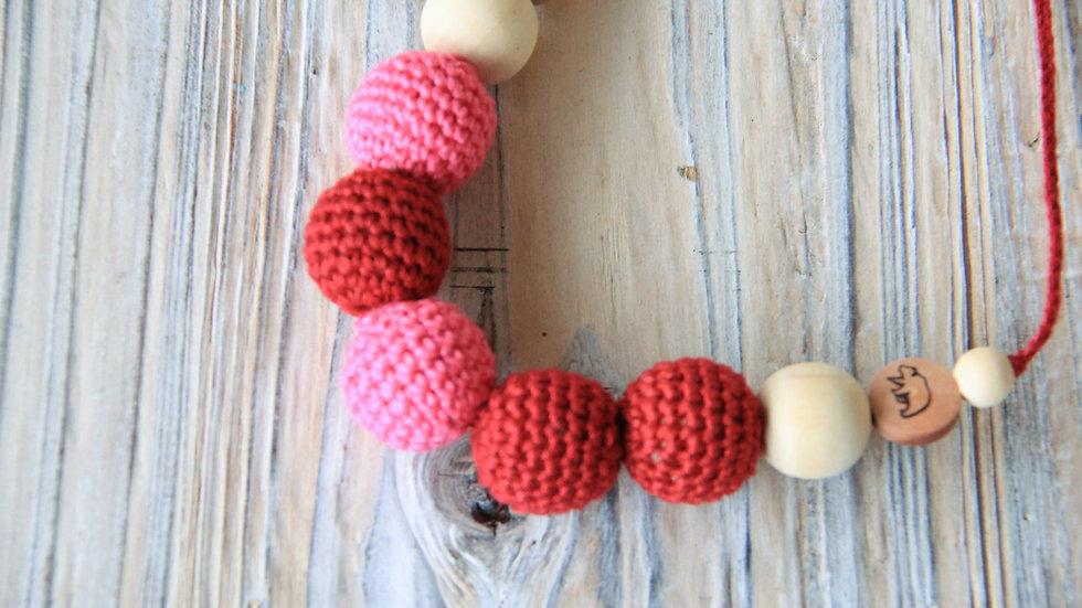 Amningshalsband - körsbär och hallon