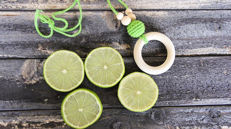 Amningshalsband med bitring - limegrön