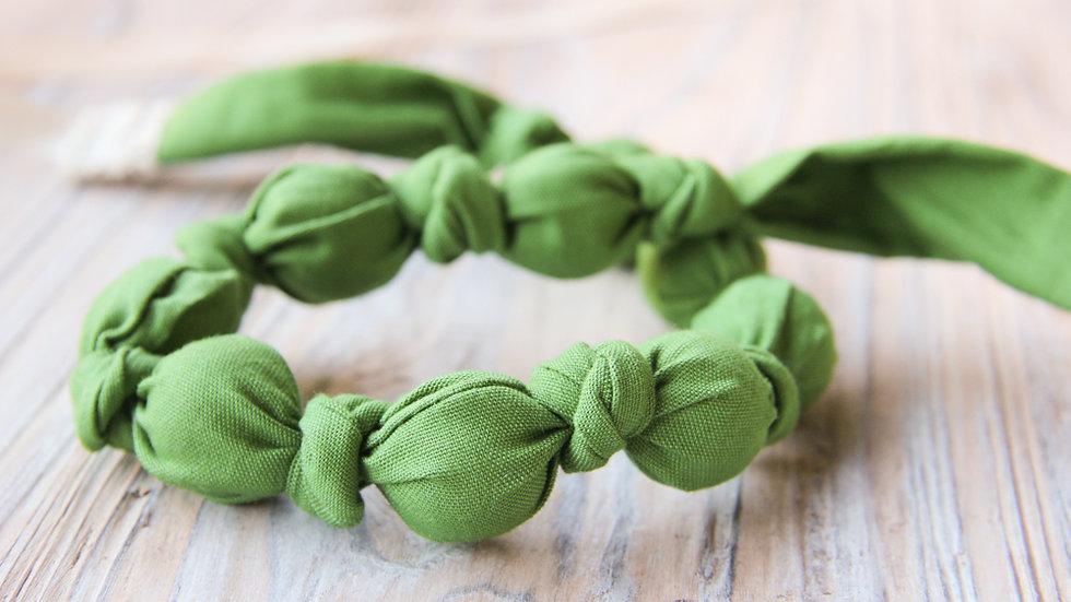 Tyghalsband - amningshalsband - mörkgrön