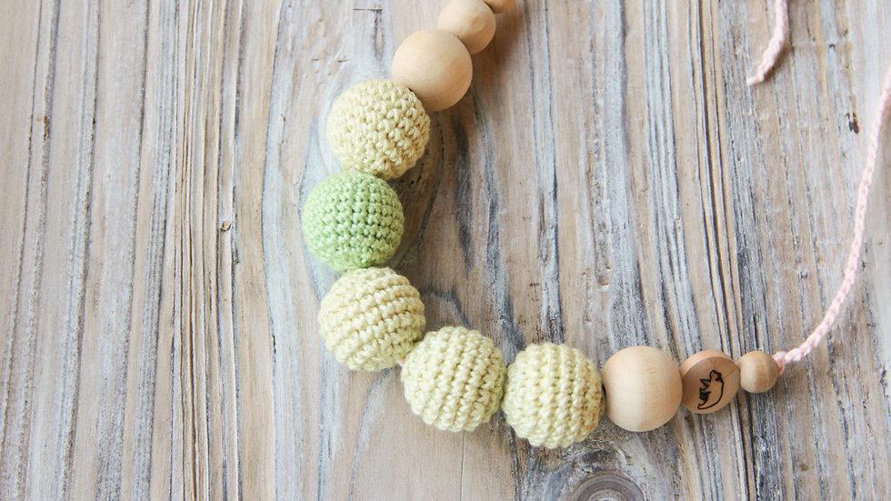Amningshalsband - baby gult och grönt