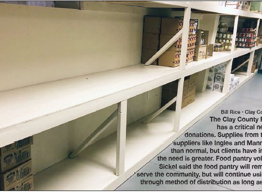 Pantry in 'critical state' (Lorrie Ross, Clay County Progress)
