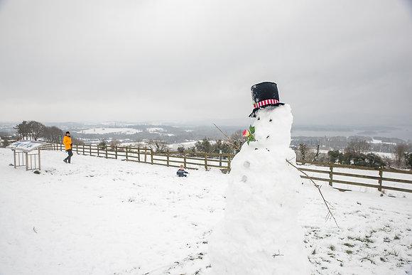 Snowman on Aghadoe