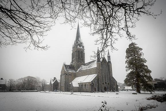 Killarney Cathedral snow