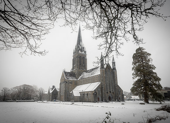 Killarney Cathedral snow
