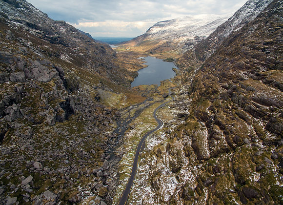 Gap of Dunloe in the snow