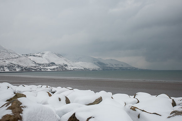 Rossbeigh Strand snow