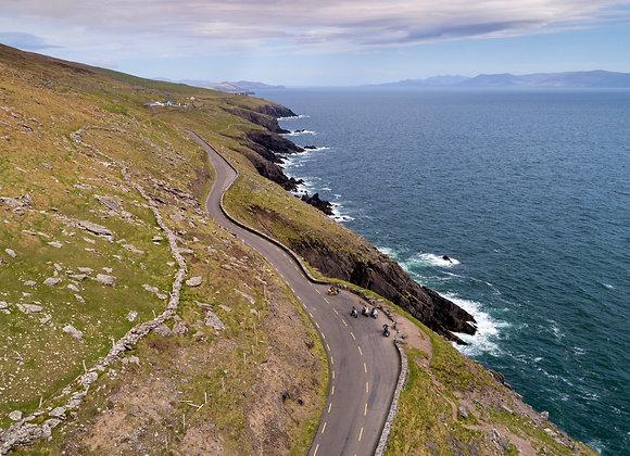 Harley Bikers on the Coastal road