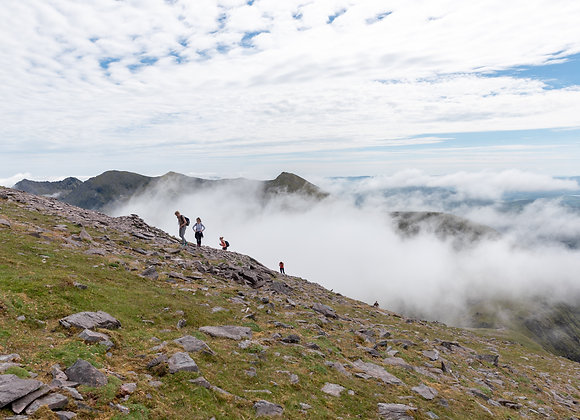 Group of Hikers on the Reeks