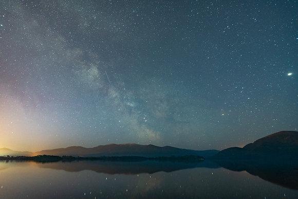 Milky Way over Lough Lane lake