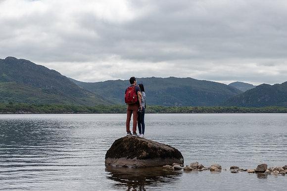 Tourist on Muckross Lake