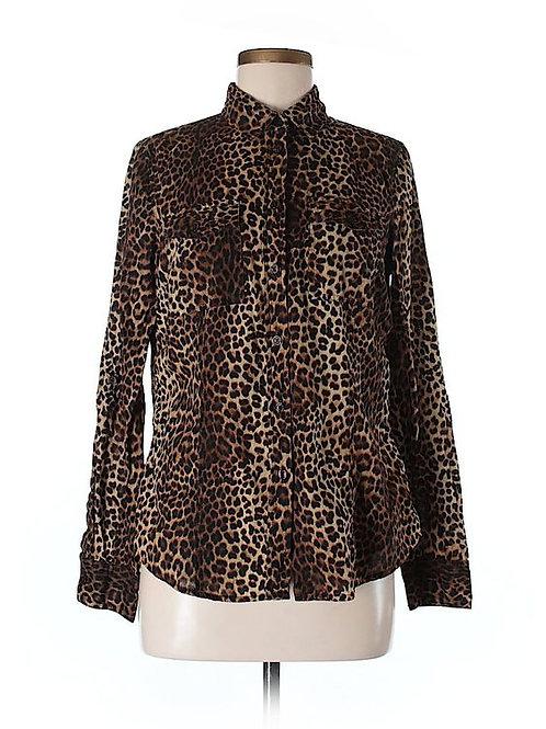 Micheal Kors Leopard Print Button Up