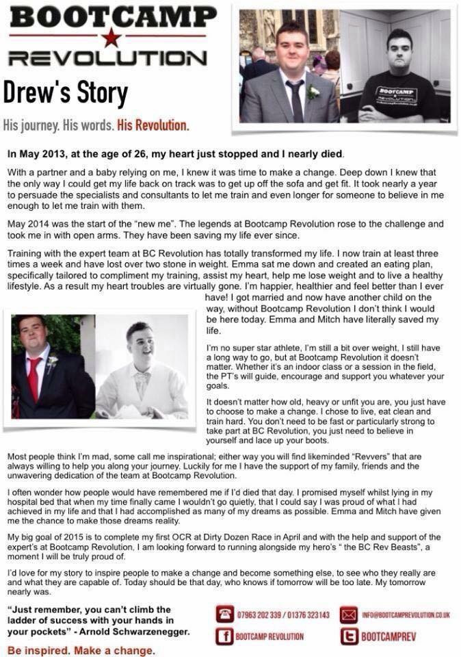 Tap to read Drew's story