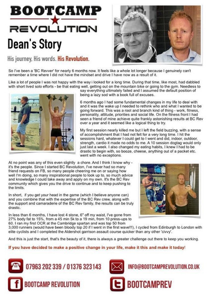 Tap to read Dean's story