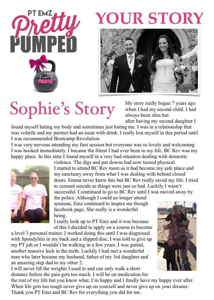 Tap to read Sophie's story