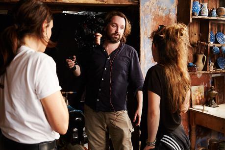 film director julia Schönstädt and dop matt Rozier on film set