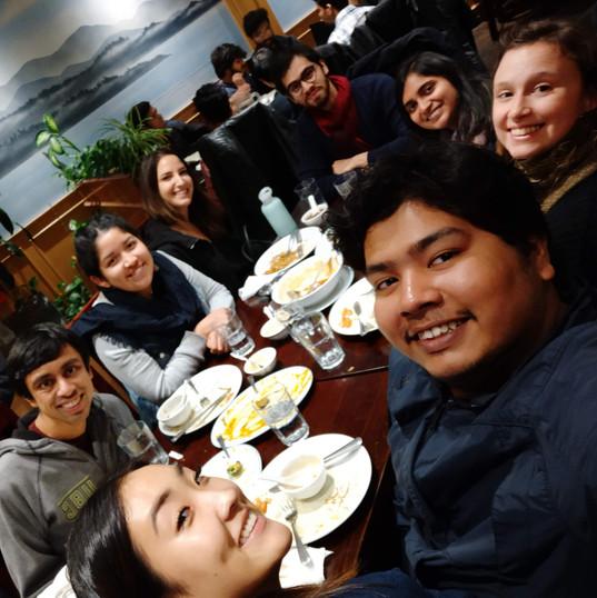 Farewell dinner for VIRS student Erika