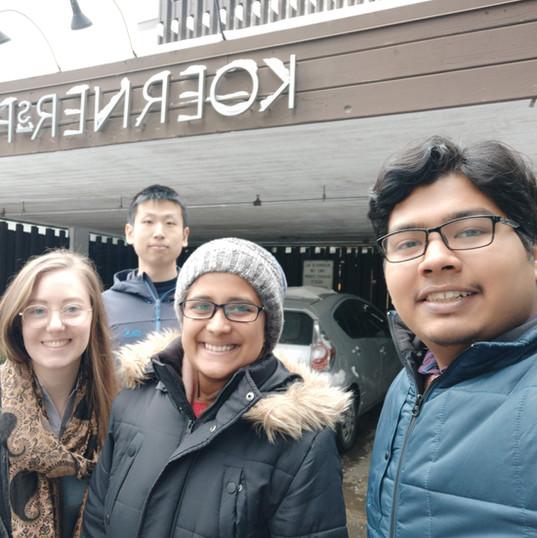 New lab member Rivkah visits UBC