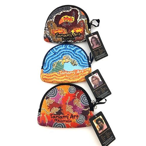 Aboriginal artist coin bags / set of 3