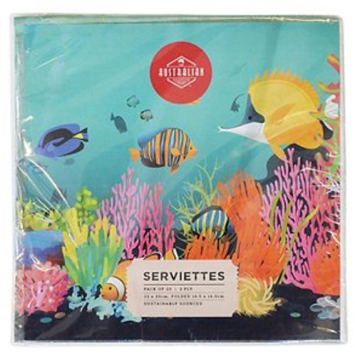 Australian Serviettes / Coral Reef
