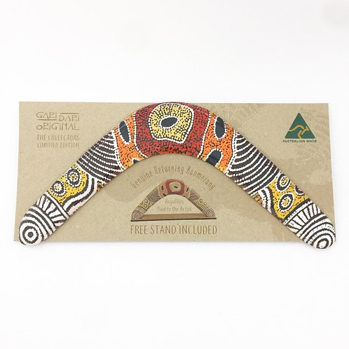 Australian Made / Limited Edition Genuine Returning Boomerang with stand / DMN