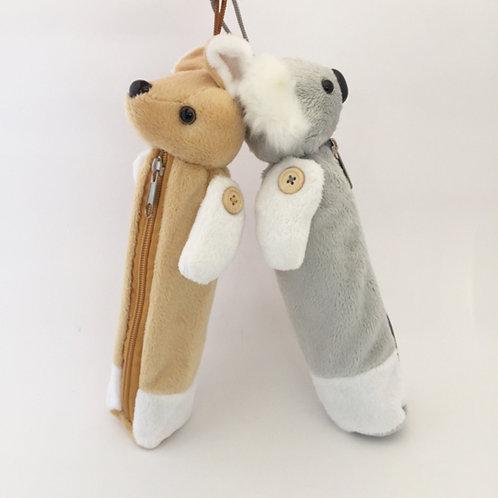 Set of 2 / koala and kangaroo Hanging Soft Pencil case