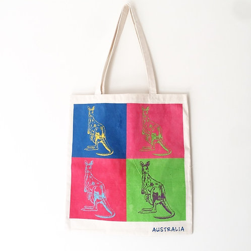 Eco Bag / Colourful Kangaroos