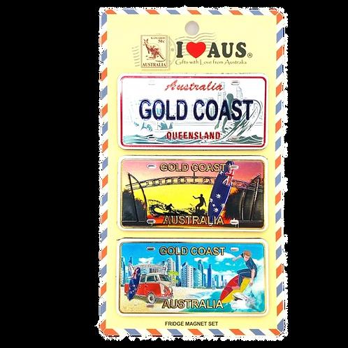 Gold Coast magnets / set of 3