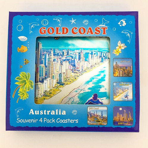 Gold Coast Coasters / set of 4 / AKCT02