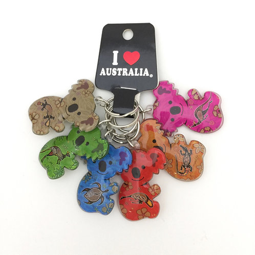 Colorful koala keyrings / set of 6