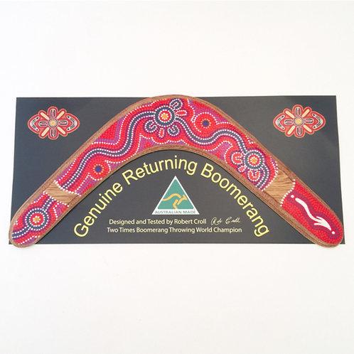 Genuine returning boomerang   Australian Made   Dot