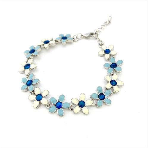Marine Opal - Paua-Shell / Flower bracelet