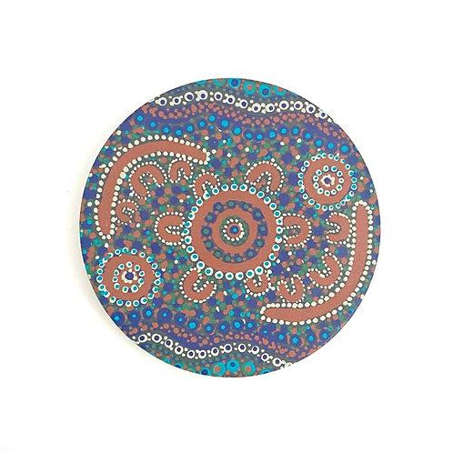 Aboriginal Ceramic Coaster | Finke River