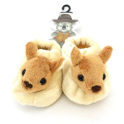 Soft Baby Booties  / Kangaroo / 6-12 months