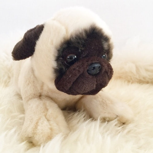 Pug dog lying soft toy ( S ) Pepito