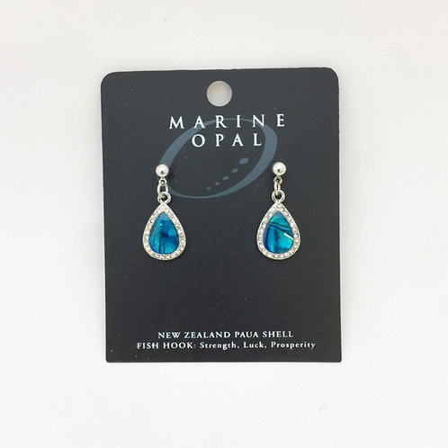 Marine Opal - Paua-Shell / Tear drop earrings