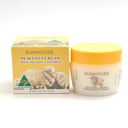 Placenta cream with Collagen & Vitamin E 100ml | Australian Made