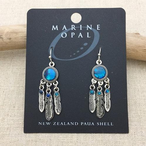 Marine Opal - Paua-Shell / Dream catcher Earrings / HFMOE130
