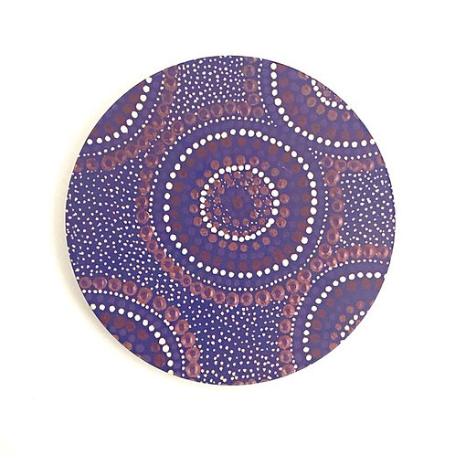 Aboriginal Ceramic Coaster | Desert Waterholes